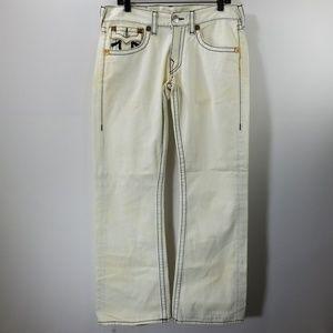 True Religion White Bootcut Jeans Size 32